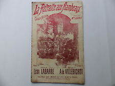 Partition La retraite aux flambeaux MADAME JUANA LEON LABARRE A. DE VILLEBICHOT