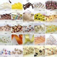 "25x1Yard Assorted Satin Grosgrain Ribbon Lot 3/8""--1.5"" Yellow Theme Craft Bow-B"