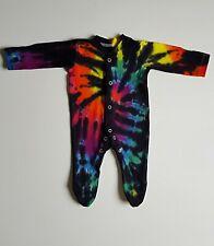 Tie Dye Baby 100% Cotton PJ Babygrow Shower Christmas Santa Rainbow Gift Present