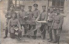 RPPC Post WWI German Soldiers Machine Gun Squad D5