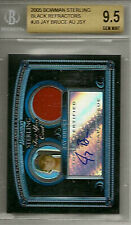 JAY BRUCE 2005 Bowman Sterling BLACK REFRACTOR RC /25 Auto/Jersey BGS 9.5 GEM MT