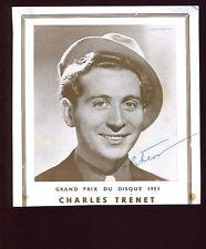 ACTEUR PHOTOGRAPHIE AUTOGRAPHE Charles TRENET