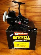 MIB!! Garcia Mitchell 386/White Spool Salt Water Spinning Reel & Extra's