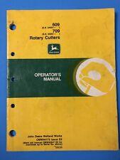 1996 John Deere Model 609 Amp 709 Rotary Cutter Operators Manual Omw44172 E6 106pg