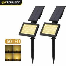 Solar Powered 50-LED Solar Spotlights Floodlights Outdoor Landscape Lamps 3000K