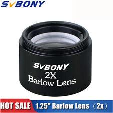 SVBONY 1.25''/31.7mm Barlow Lens(2X) M28.6*0.6 for Telescope Eyepiece/Lenses
