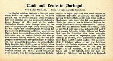 Portugal ( Volksleben Landleute Nationaltracht ) Historische Memorabile 1910