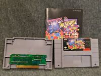 SNES Tetris & Dr. Mario Super Nintendo game with Manual Tested Authentic & Cover