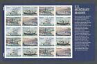 4548 4551 US MERCHANT MARINE   SHIPS  UNFOLDED MINT NH SHEET