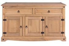 Premium Corona Solid Pine Living Range - Medium 3 Door 2 Drawer Sideboard