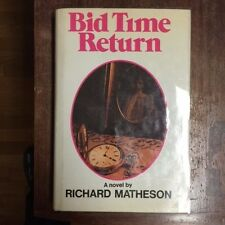 SIGNED Richard Matheson BID TIME RETURN 1st in dj Review slip and photo