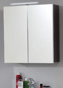 Decopatent Badezimmerschrank h/ängend Wandschrank mit Handtuchhalter H/ängender Schrank f/ür Badezimmer Bambus Holz