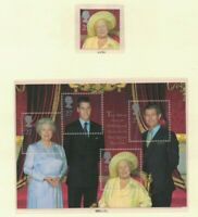 MGB24) Great Britain 2000 Queen Mother's 100th Birthday Minisheet MUH