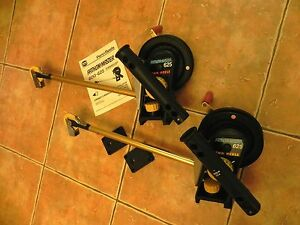 2 Penn Fathom-Master 625 Downriggers with ROD HOLDER & BASE PLATE Matching Pair