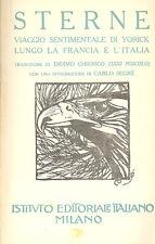 Sterne: Viaggio sentimentale Foscolo Copertina in pelle Istituto  Edit Italiano