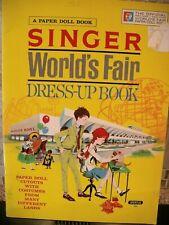 1963 SINGER WORLDS FAIR PAPER DOLL DRESS-UP BOOK BY SPERTUS