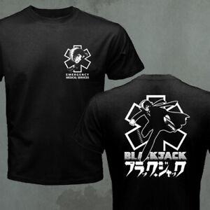 Doctor Black Jack Japanese Classic Retro Anime EMS Paramedic T-shirt