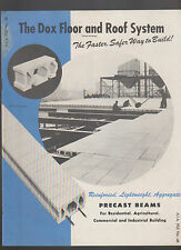Dox Floor & Roof System Precast Beams Brochure 1940s