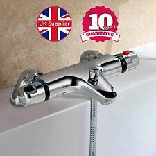 CHROME DECK MOUNTED THERMOSTATIC BATH SHOWER MIXER TAP