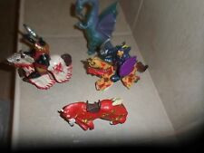 Lot of 6 Papo +. Medieval Tournament  3 Horses 2 Knights,1 Dragon fantasy figure