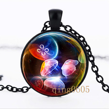Pink Jellyfish Nautical photo Glass Dome black Chain Pendant Necklace wholesale