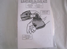 Leather Glove Kit~White Leather~One Size Fits All~New~Lbddm