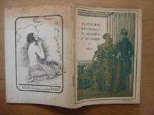 Programme saison 1927 ACADEMIE NATIONALE DE MUSIQUE ET DE DANSE Opera