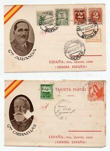 1937 SPAIN CIVIL WAR COVERS LOT, PATRIOTIC, CINDERELLAS, HIGH VALUE !!