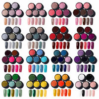 LEMOOC 5 Farben/set UV Gel Nagellack Glitzer Rosa Rot UV LED Gel Lacke Kit