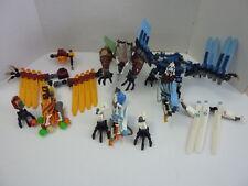 4 - LEGO Ninjago Lightning Dragon, Fire Temple, Ice, Earth Defense INCOMPLETE