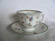 ancienne tasse en porcelaine de limoges à décor de fleur