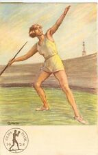 Germany Olympische Spiele Olympic Games 1928 Olympic postcard Javelin Throwing