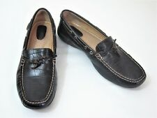 Sperry Top Sider Women's Size 8M Brown Croc Leather Slip on Loafers Boat Shoes