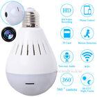 Network HD 960P IP Camera 360° Security SPY Hidden Wifi Wireless LED Light Bulb