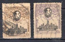 ESPAÑA 1920 EDIFIL 298 y 302 USADOS ALFONSO XIII - VII CONGRESO DE LA U.P.U.