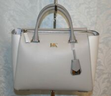 MICHAEL KORS NOLITA MEDIUM SATCHEL ALU/OPT/PGRY LEATHER 30S8SY5S6T