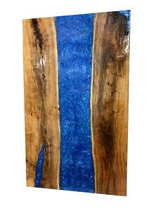 Decorative Blue Resin River Living,Garden Epoxy Furniture Wooden Walnut Table