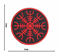 Viking Helm Terror Iron or Sew On Embroidered Patch Badge Logo Fancy Badges #356