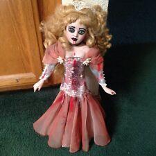 Fancy Fishtail Pink Dress Lady Vampire Creepy Horror Doll Christie Creepydolls