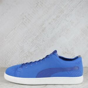 Mens Puma Basket Evo Knit 3D Blue Trainers (50C16) RRP £79.99