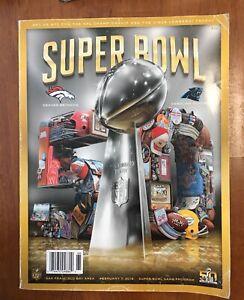 Super Bowl 50 Program Denver Broncos Carolina Panthers 2016 Peyton Manning NFL