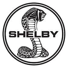 "Shelby Cobra Die Cut Vinyl Decal Sticker 12"" x 12"" - Black - Car Truck Window"