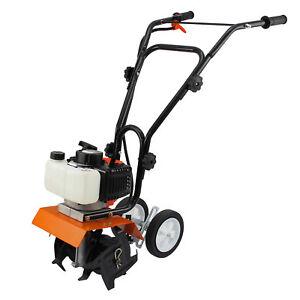 Garden Tiller 3HP Rotovator 52cc Petrol Cultivator 2-Stroke Engine Lawn Soil