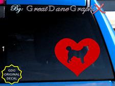 Alaskan Malamute in HEART - Vinyl Decal Sticker / Color Choice - HIGH QUALITY