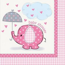 PINK UMBRELLAPHANTS - Napkins [16] Baby Shower Party Girl Tableware Supplies