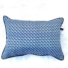 Vineyard Vines for Target Whales aqua blue lumbar pillow Summer Sold Out New
