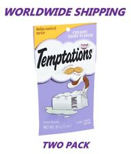 Temptations Cat Treats Creamy Dairy Flavor 3 Oz TWO PACK WORLDWIDE SHIPPING
