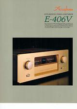 Faltblatt Prospekt Accuphase E-406V  B581