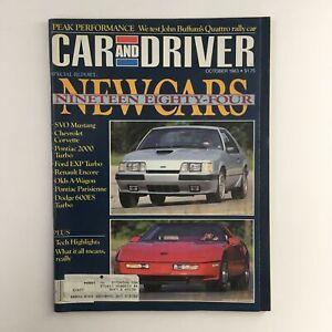 Car and Driver Magazine October 1983 John Buffum's Quattro Rally Car Test