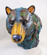 Bear Multi-color Bust Animal Figurine Home Decor